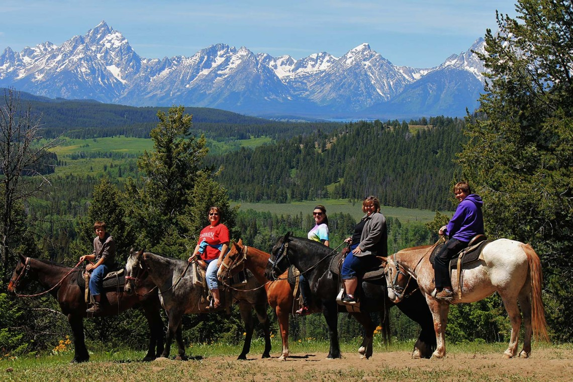 Horseback Riding in the Grand Tetons - Teton Horseback Adv.